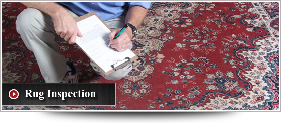 Rug Cleaner Process: Rug Inspection